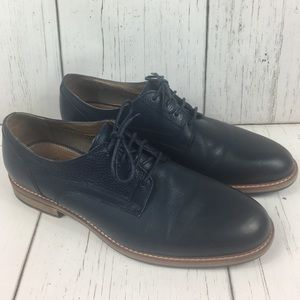 Johnston & Murphy 1850 Navy Leather Shoes 10.5